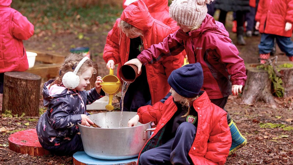 Rydes Hill Forest School Making Stew
